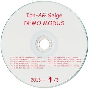 Ich-AG Geige: Demo Modus