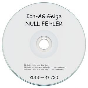 Ich-AG Geige: Null Fehler